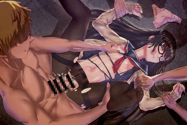 【風俗だと+1000円】パンストの股部分破いてチンポ挿入てる二次エロ画像【14】
