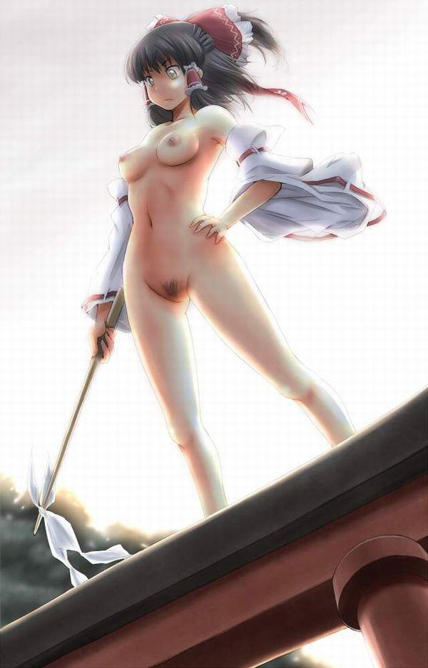 【東方】博麗霊夢の陰毛ふっさふさなエロ画像【14】