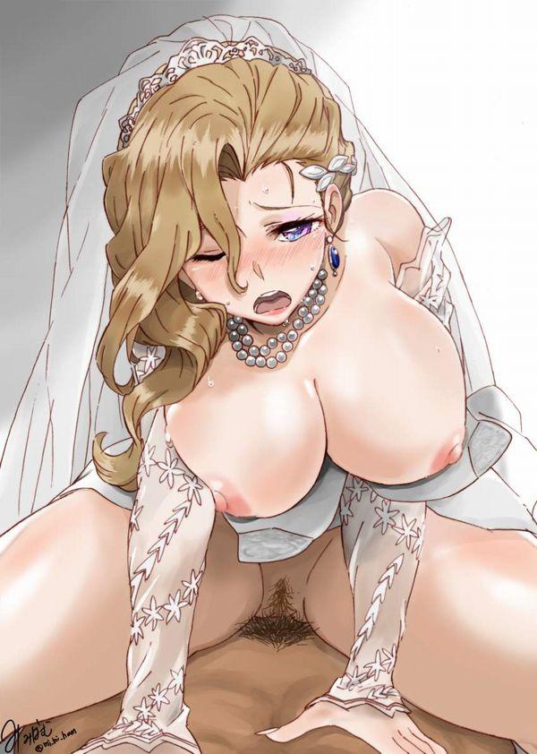 【披露宴会場控え室にて】ウェディングドレス姿でセックスしてる二次エロ画像【14】
