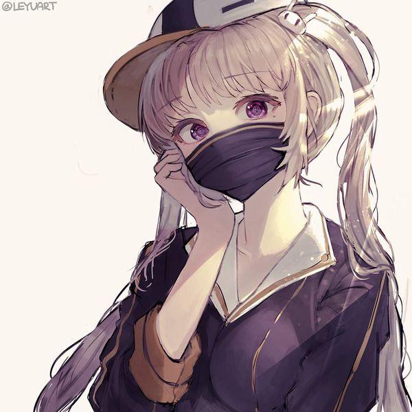 【マスクも】少しオシャレなマスク着けた女子達の二次エロ画像【ファッションアイテム】【2】