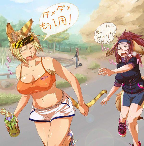 【意識高い】ジョギングする女子達の二次エロ画像【14】