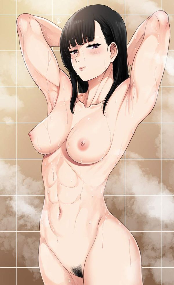 【ヌードモデル的ポーズ】全裸で腋見せつつ立つ女子達の二次エロ画像【14】