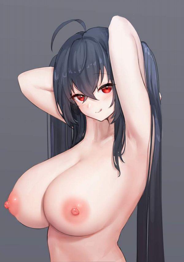 【ヌードモデル的ポーズ】全裸で腋見せつつ立つ女子達の二次エロ画像【34】