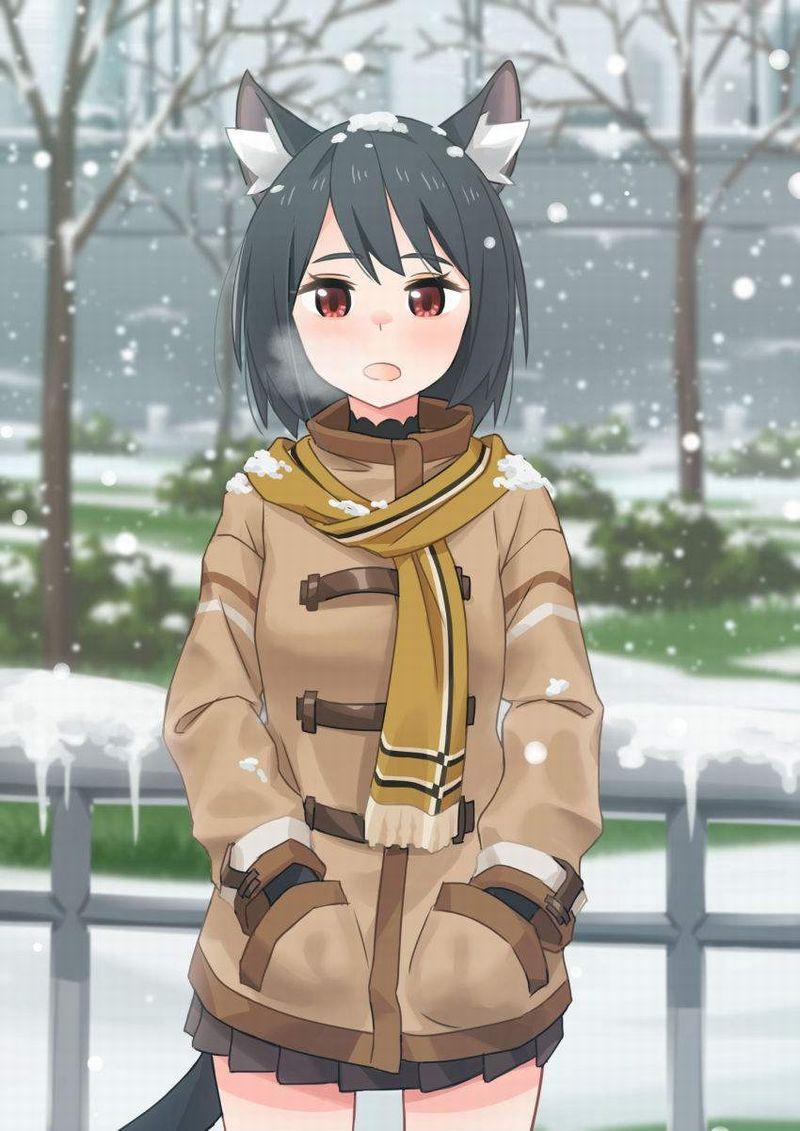 【冬だから】白い息を口から吐き出す女子達の二次エロ画像【36】