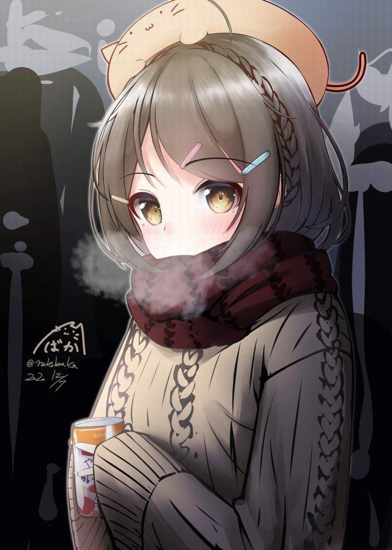 【冬だから】白い息を口から吐き出す女子達の二次エロ画像【38】