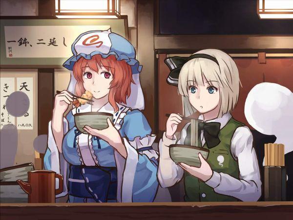 【年越し】蕎麦を食べてる女子達の二次画像【6】