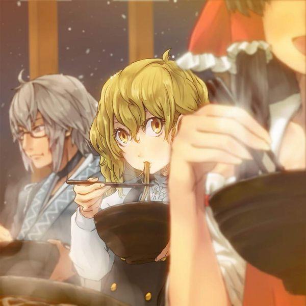 【年越し】蕎麦を食べてる女子達の二次画像【7】