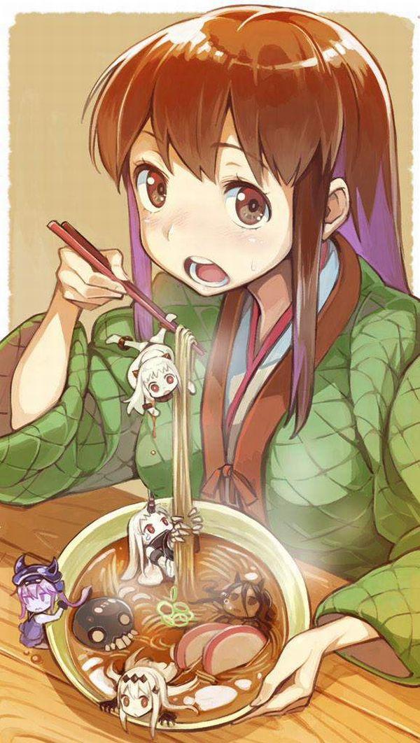 【年越し】蕎麦を食べてる女子達の二次画像【10】