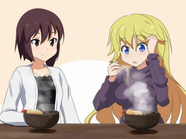 【年越し】蕎麦を食べてる女子達の二次画像【20】