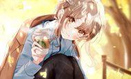 【あったか~い】コンビニコーヒーと美少女の二次画像
