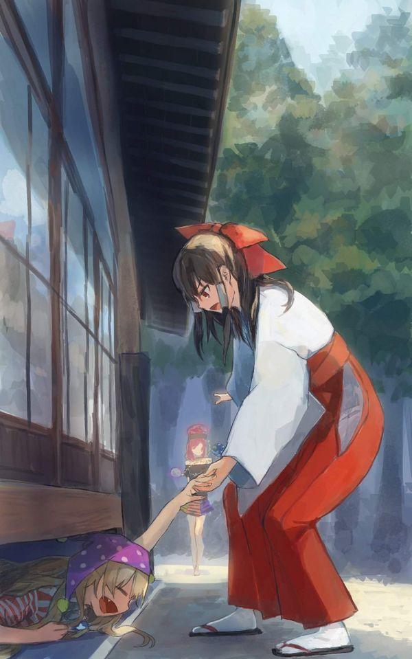 【東方】巫女に従事する博麗霊夢の二次エロ画像【33】