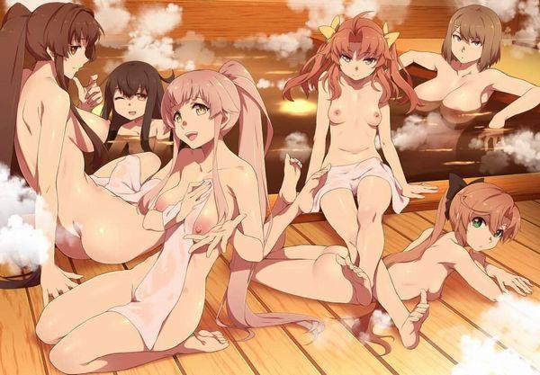 【みんなで一緒に】温泉で日々の疲れを癒す艦これキャラ達の二次エロ画像【13】