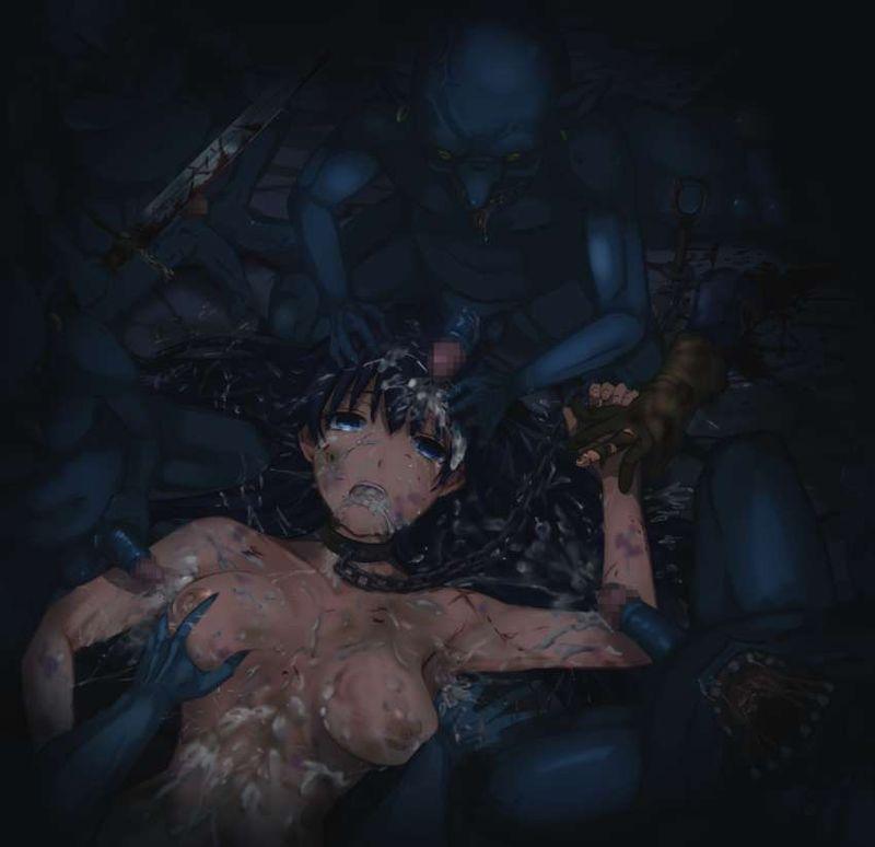 【痛々しい】激しい暴行を受け全身痣だらけになってる二次エロ画像【13】