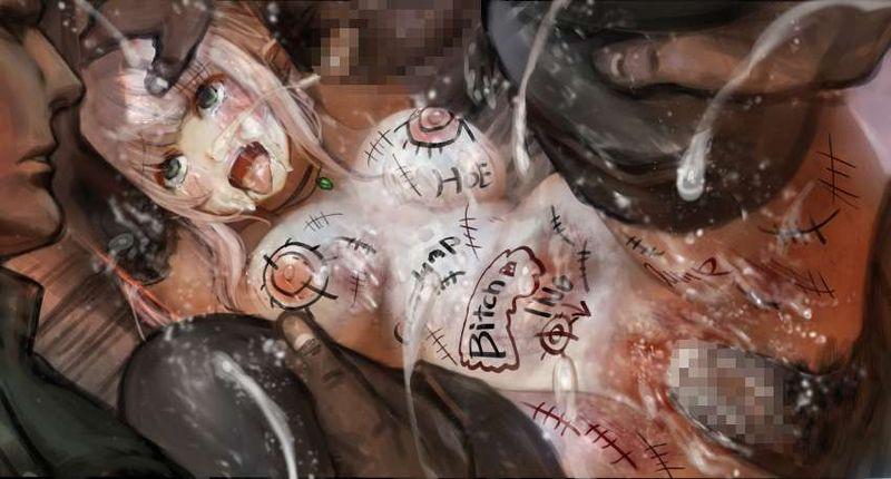 【痛々しい】激しい暴行を受け全身痣だらけになってる二次エロ画像【25】