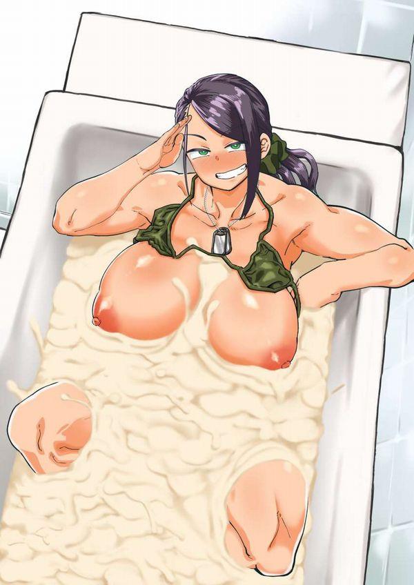 【身体の一部だけが温まりそう】精液風呂に漬かる女子達の二次エロ画像【16】