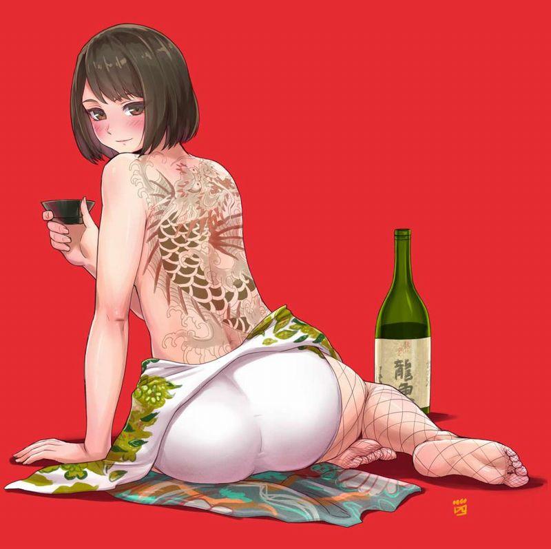 【ガチの酒呑み】日本酒の一升瓶と大和撫子の二次エロ画像【21】