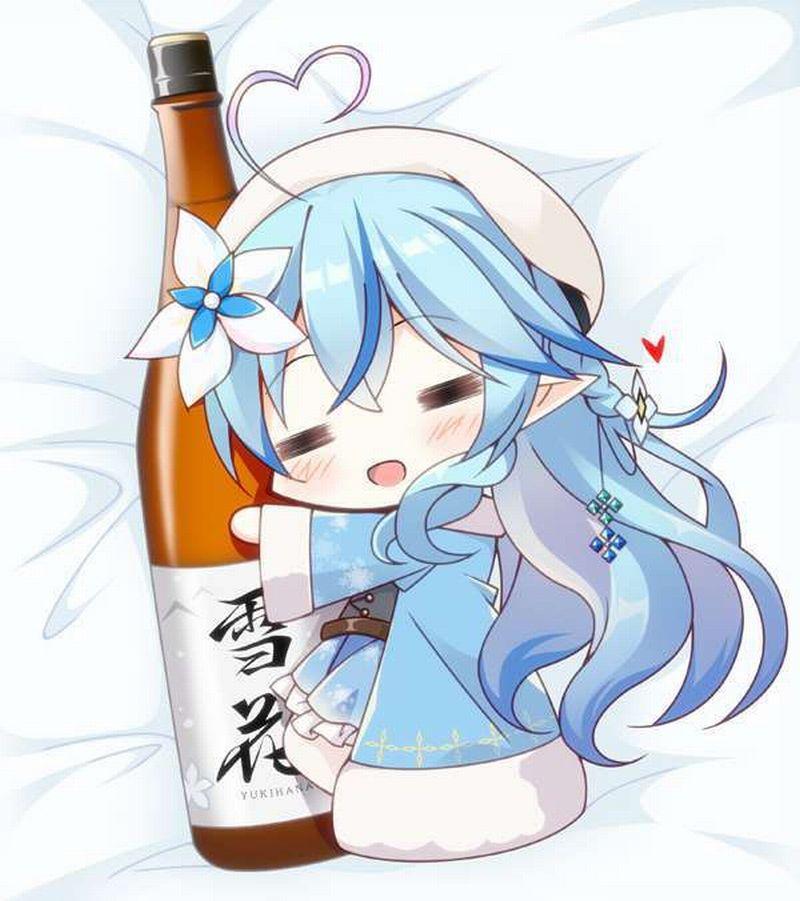 【ガチの酒呑み】日本酒の一升瓶と大和撫子の二次エロ画像【40】