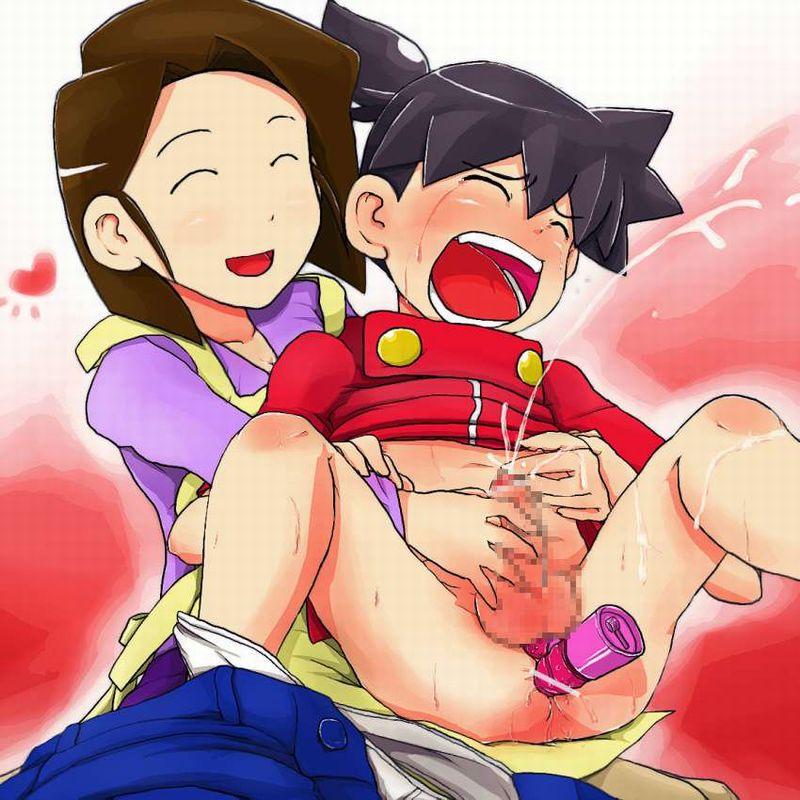 【いい子いい子】年下の男の子に手コキしてあげるお姉さんの二次エロ画像【14】