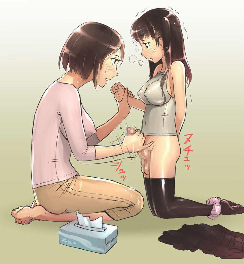 【いい子いい子】年下の男の子に手コキしてあげるお姉さんの二次エロ画像【40】