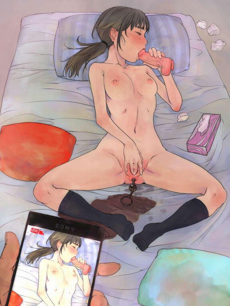 【几帳面なタイプ】オナニーの際もしっかり全裸になる女子の二次エロ画像【13】
