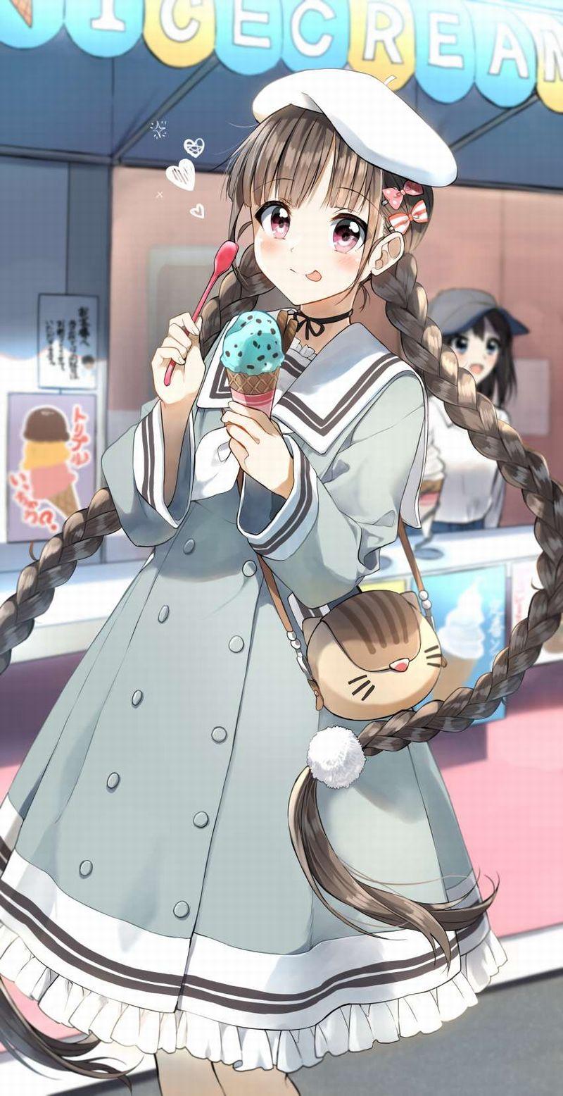 【2月19日はチョコミントの日】チョコミントアイスと女の子の二次画像【2】