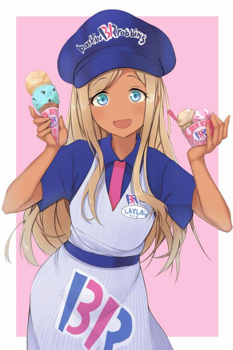 【2月19日はチョコミントの日】チョコミントアイスと女の子の二次画像【3】