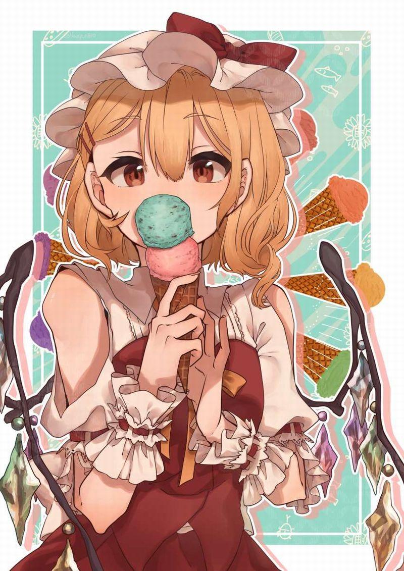 【2月19日はチョコミントの日】チョコミントアイスと女の子の二次画像【4】