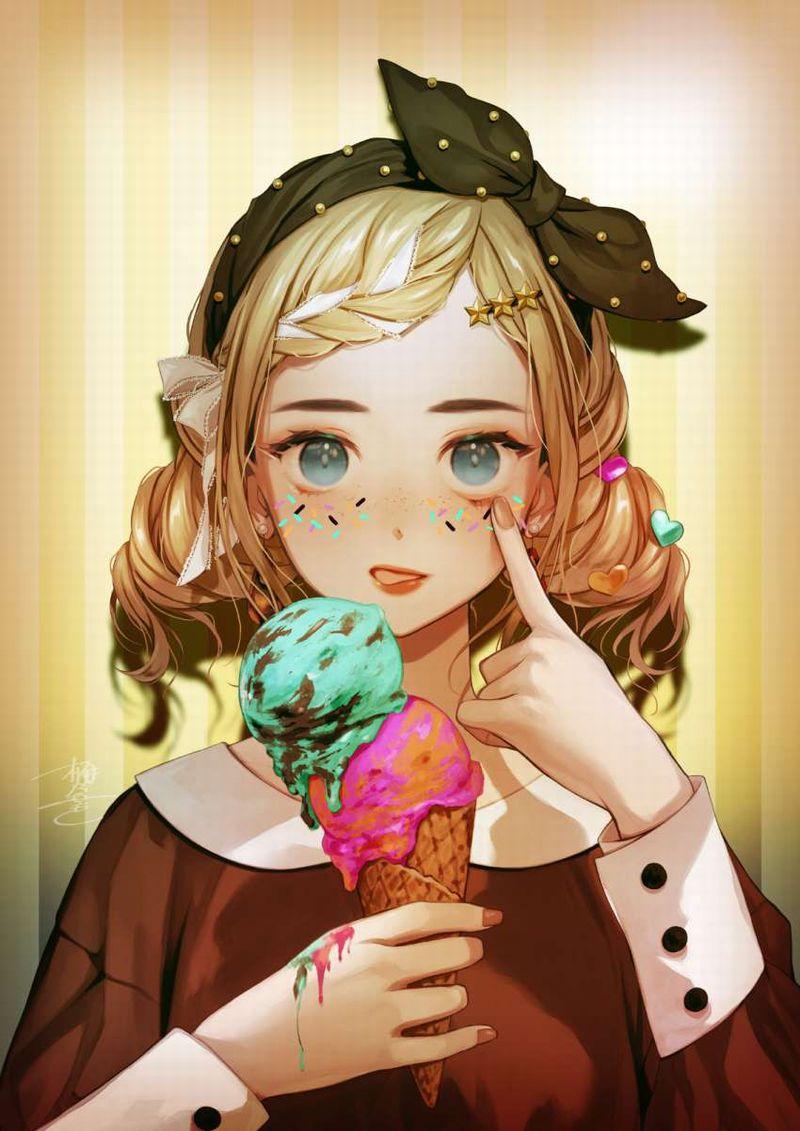 【2月19日はチョコミントの日】チョコミントアイスと女の子の二次画像【10】
