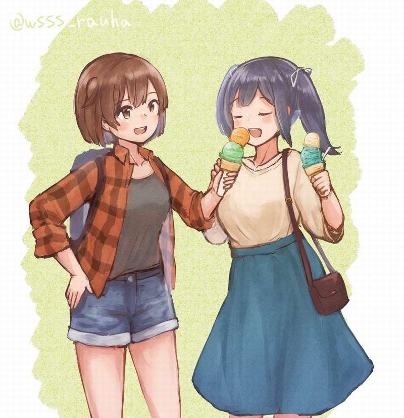 【2月19日はチョコミントの日】チョコミントアイスと女の子の二次画像【20】