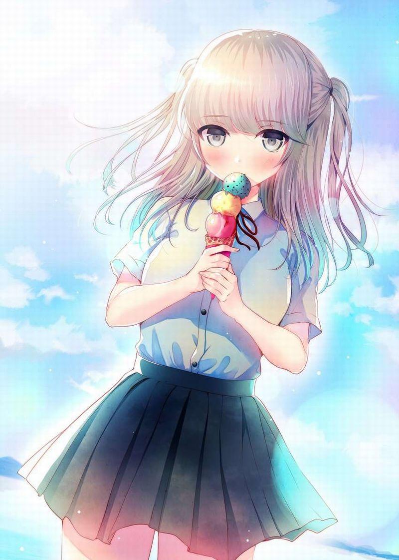 【2月19日はチョコミントの日】チョコミントアイスと女の子の二次画像【35】