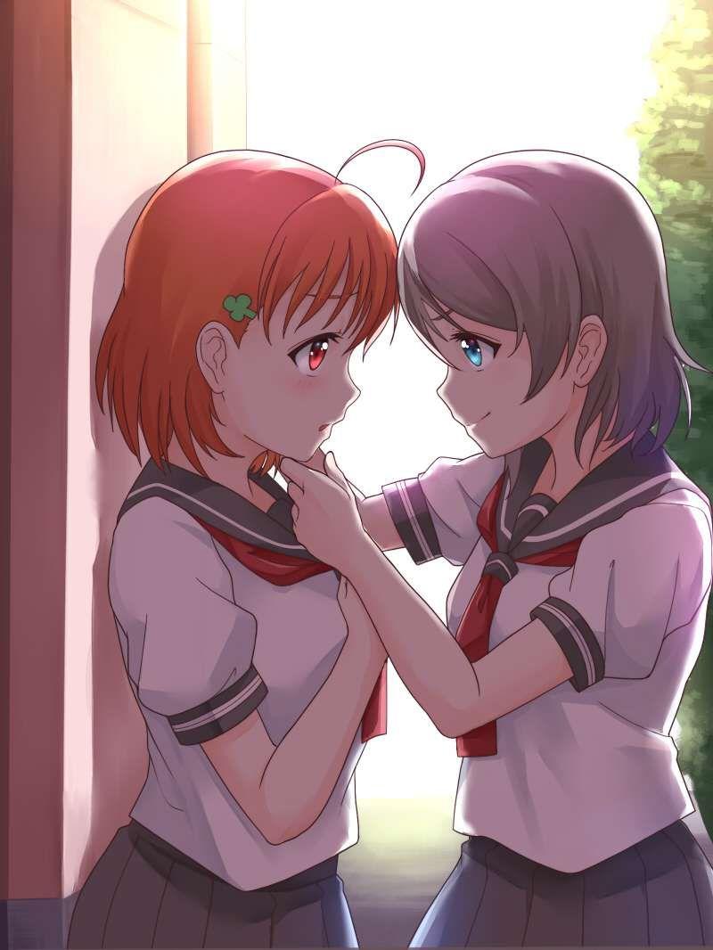 【キスされるのかな?】あごをくいってされてる女子達の二次画像【5】