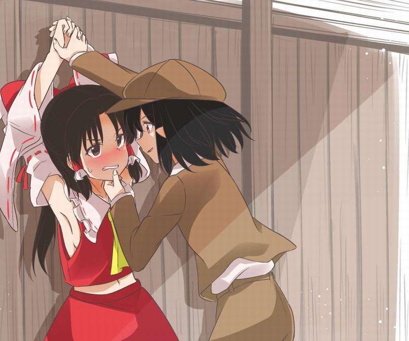 【キスされるのかな?】あごをくいってされてる女子達の二次画像【12】