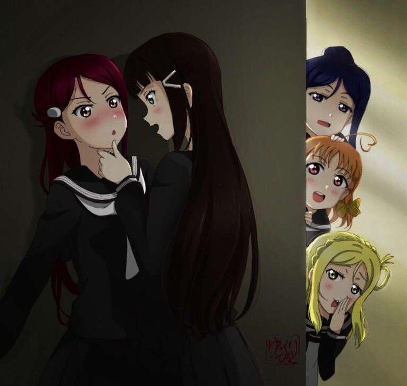 【キスされるのかな?】あごをくいってされてる女子達の二次画像【19】
