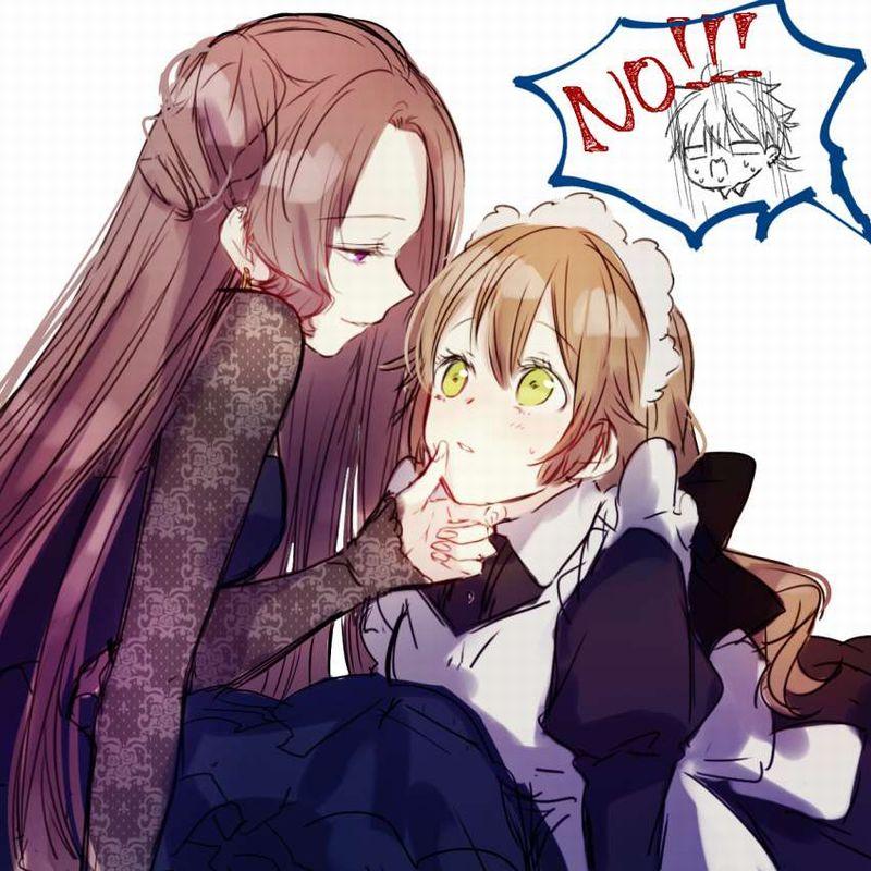 【キスされるのかな?】あごをくいってされてる女子達の二次画像【20】