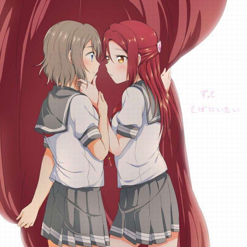 【キスされるのかな?】あごをくいってされてる女子達の二次画像【21】
