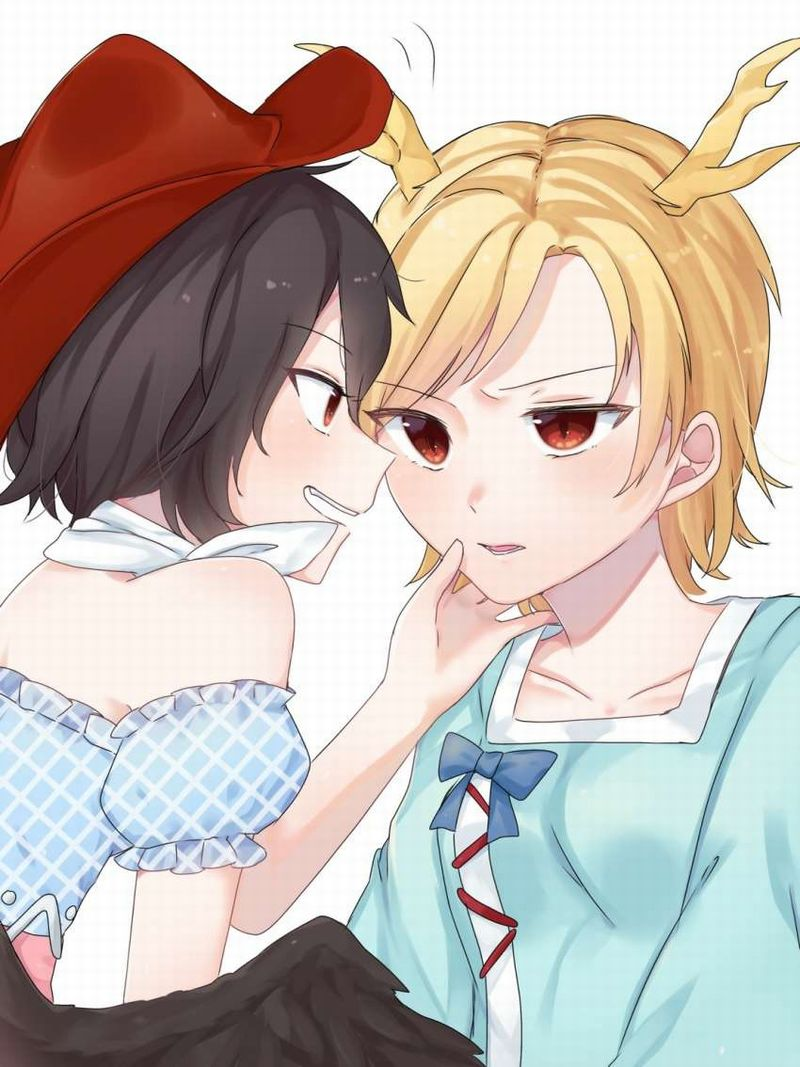 【キスされるのかな?】あごをくいってされてる女子達の二次画像【22】