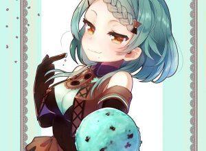【2月19日はチョコミントの日】チョコミントアイスと女の子の二次画像