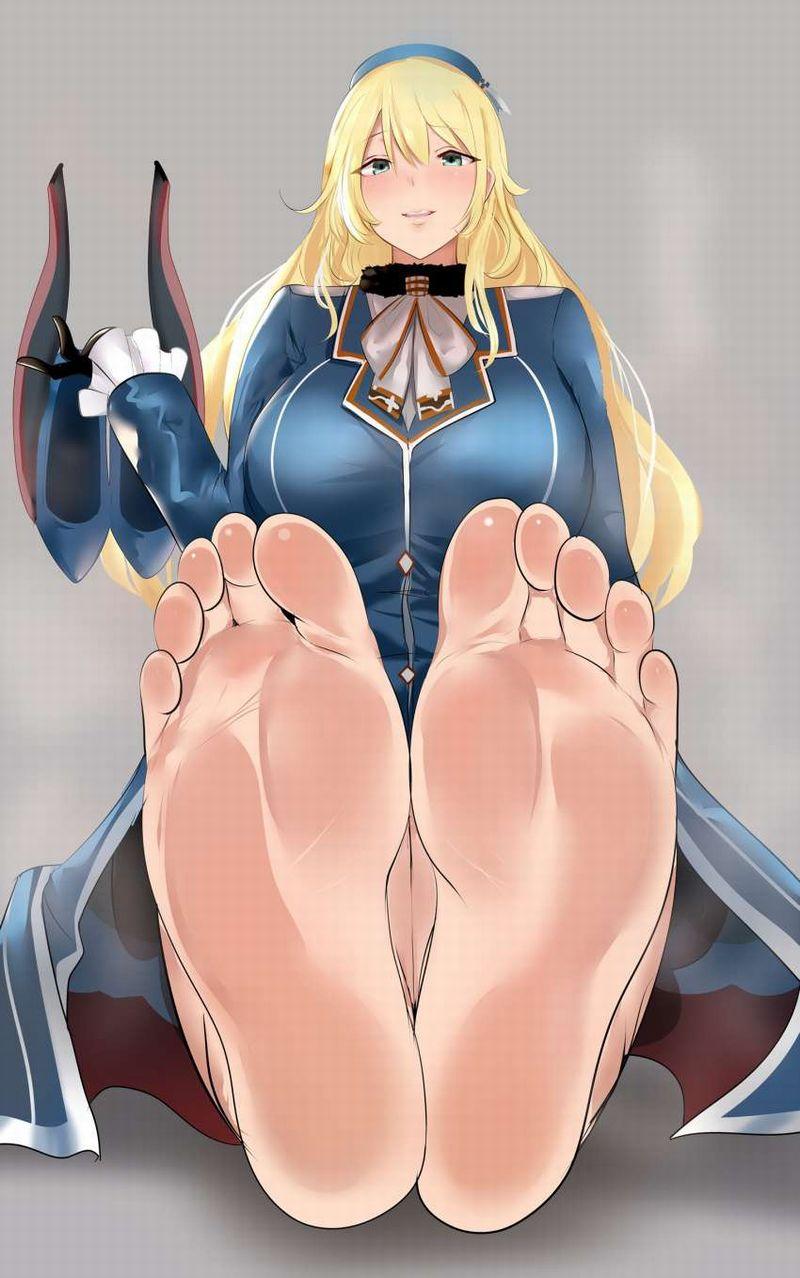 【躊躇せず頂ける】綺麗な足の裏を見せる女子の二次エロ画像【28】