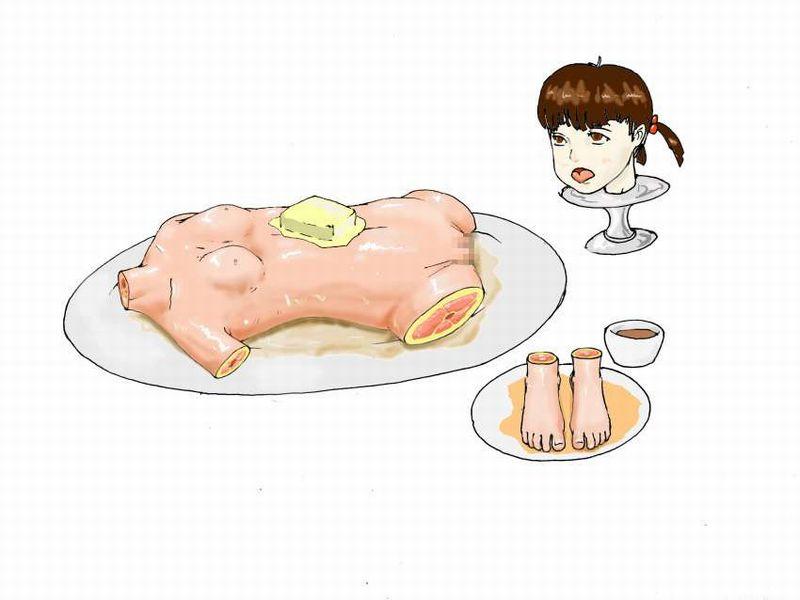 【第1部完結記念】女の子を食べてる二次エログロ画像【29】