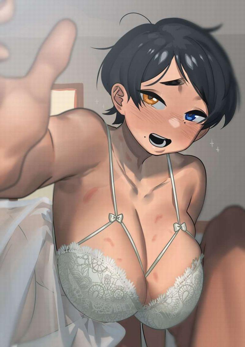 【重力に負けるな】垂れ気味巨乳とブラジャーの二次エロ画像【4】