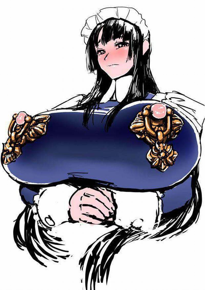 【授乳しやすそう】乳首の部分だけ穴が開いてる洋服を着た女子達の二次エロ画像【39】