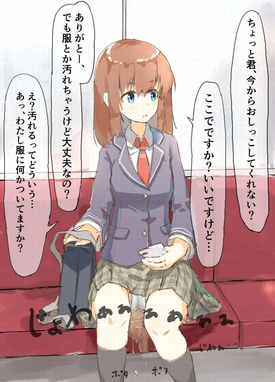 【チラ見不可避】電車で向かいの座席に女子高生が!!な、二次エロ画像【25】