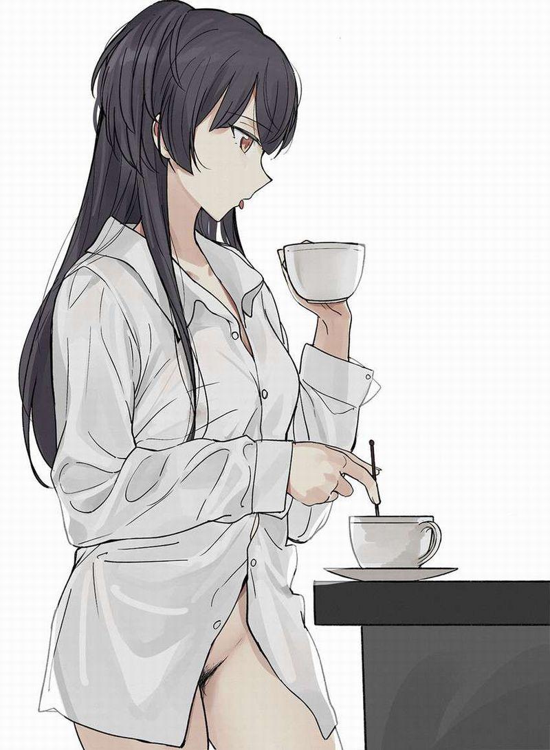 【事後の朝】コーヒーカップ持ってる女子の二次エロ画像【12】