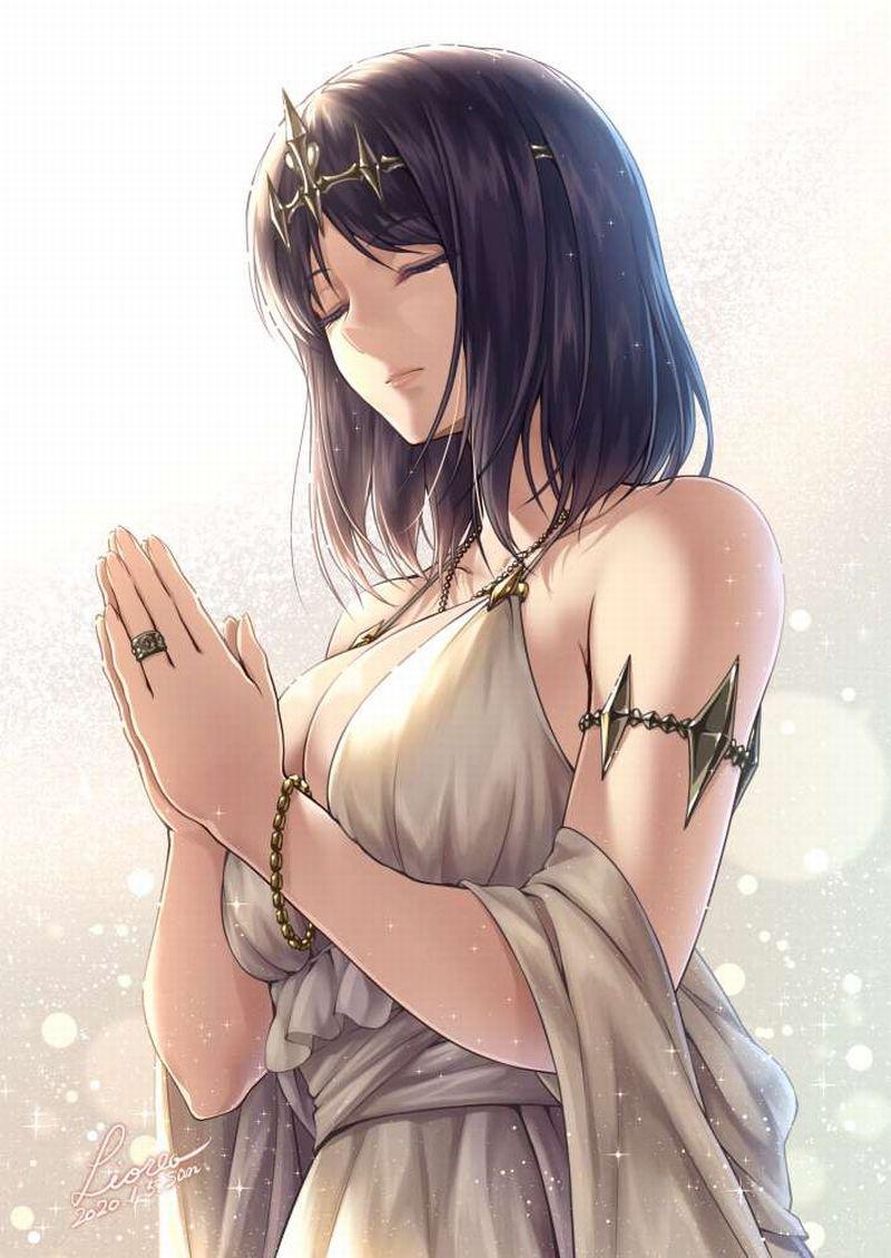 【これが運命です】手を合わせて祈る女子達の二次画像【5】