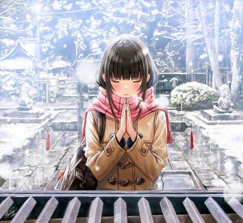 【これが運命です】手を合わせて祈る女子達の二次画像【7】