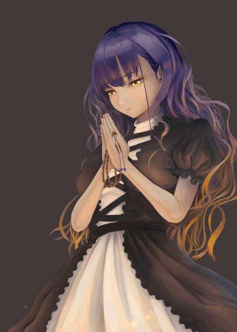 【これが運命です】手を合わせて祈る女子達の二次画像【23】