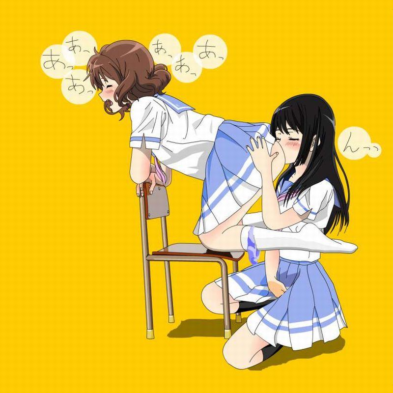 【絶対的な上下関係】女子のアナルを舐める女子の二次エロ画像【25】
