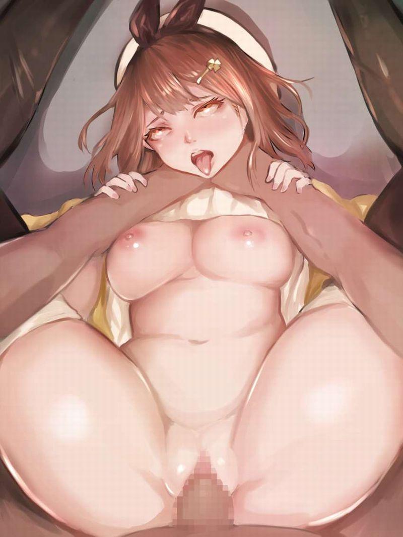 【シモの締りが悪い時の対処法】首を絞めつつ女を見下ろす正常位の二次エロ画像【26】