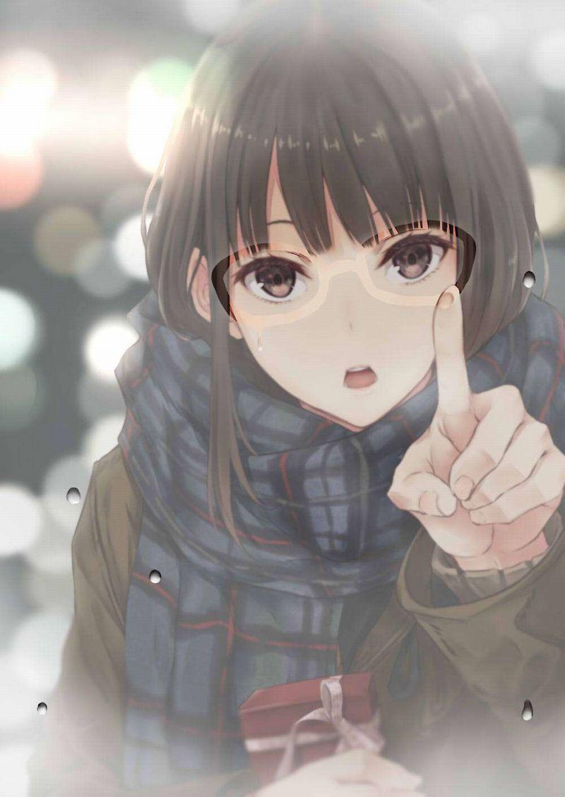 【雨の日の楽しみ】窓に指で落書きしてる女子達の二次画像【18】