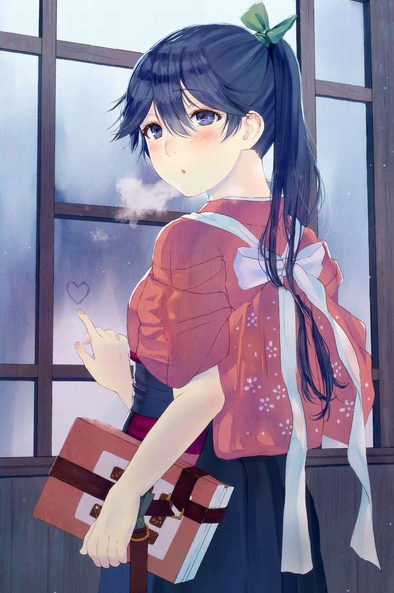【雨の日の楽しみ】窓に指で落書きしてる女子達の二次画像【31】